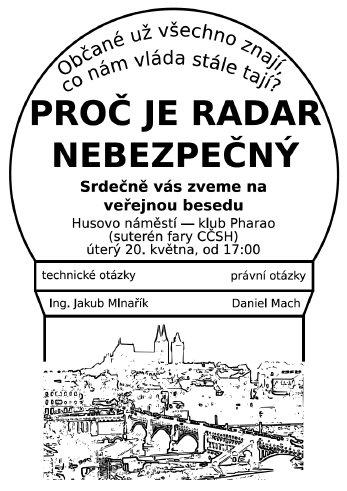 20.5.2008 Beseda: Proč je radar nebezpečný (Kolín)